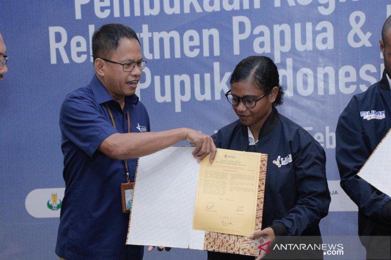 Perekrutan bersama BUMN, Pupuk Indonesia terima 12 putra-putri asli Papua