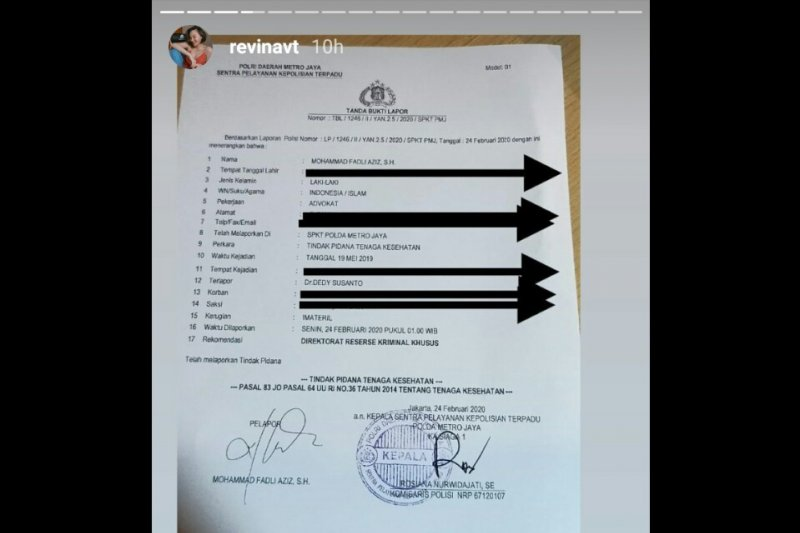Motivator Dedy Susanto dilaporkan Revina VT ke polisi