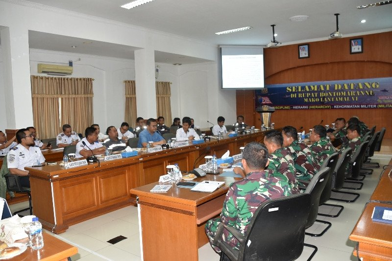"Lantamal VI-Pelindo IV rakor Pengembangan ""Makassar New Port"""