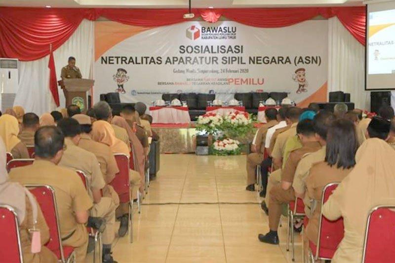 Bawaslu Lutim gelar sosialisasi netralitas ASN dalam Pilkada 2020