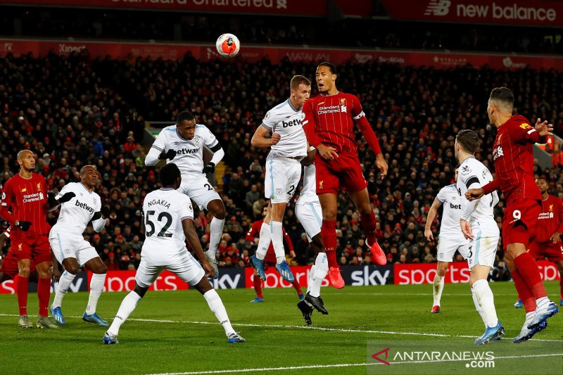 Liverpool hentikan perlawanan sengit West Ham