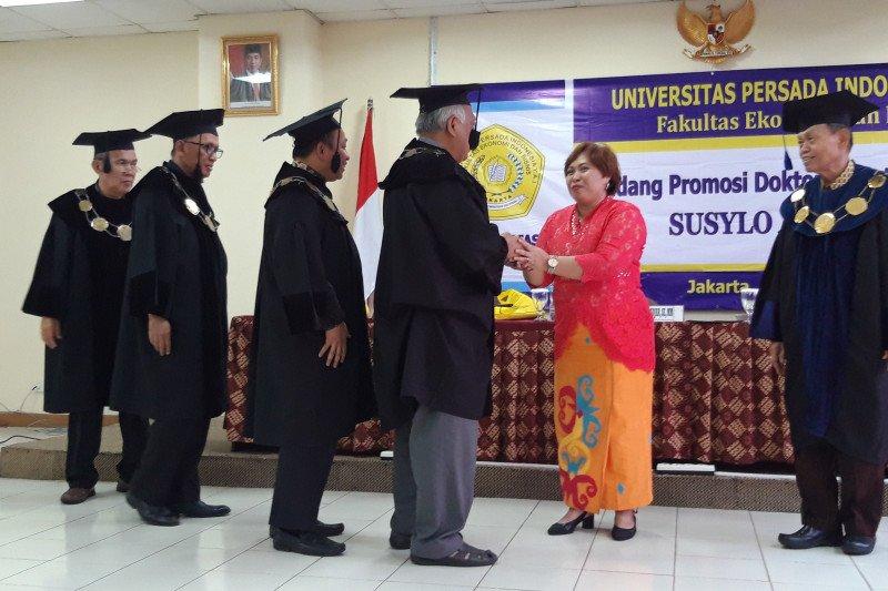 Pewarta LKBN Antara meraih gelar Doktor Ilmu Manajemen