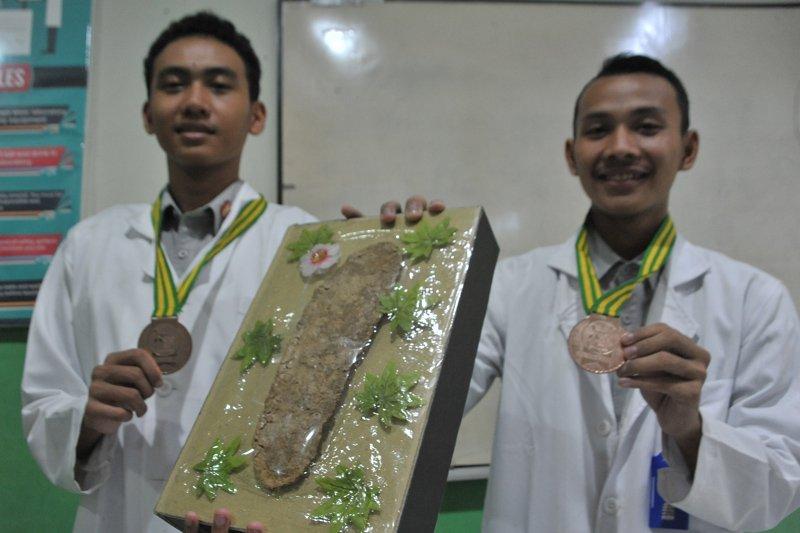 Alas kaki anti bakteri karya siswa SMA Negeri Sumsel