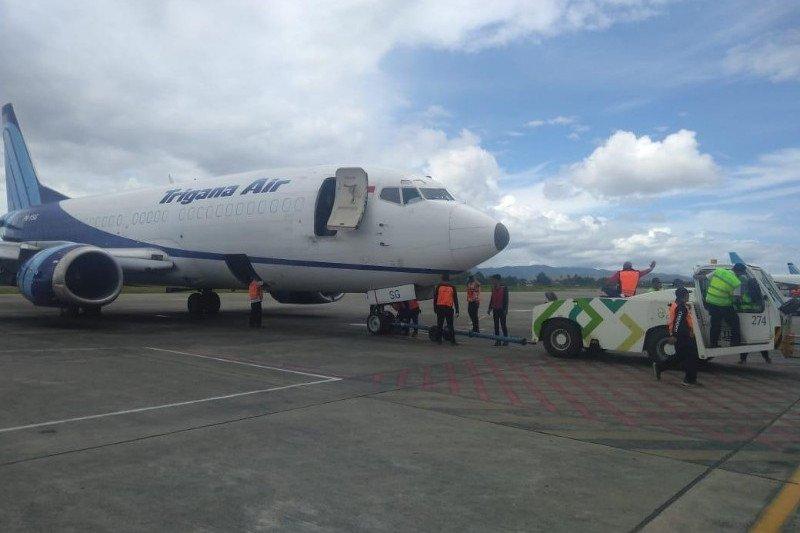 Pesawat cargo Trigana Air tergelincir di Bandara Sentani
