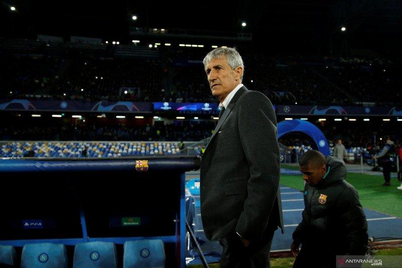 Setien optimistis Barcelona bisa kalahkan Napoli di leg kedua
