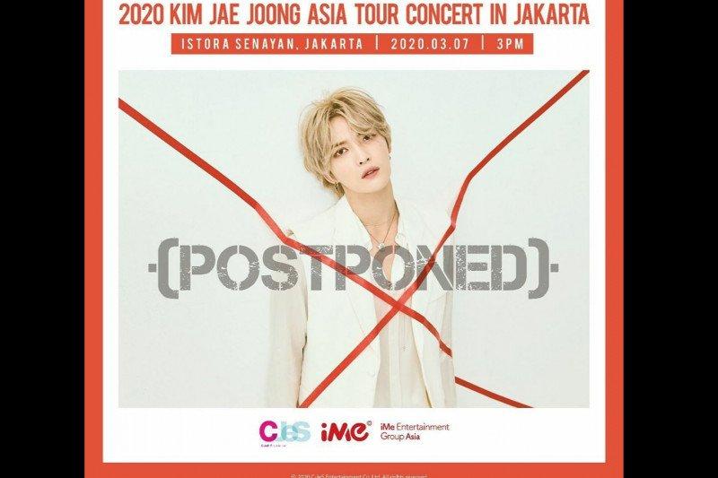 Konser Kim Jae-joong di Jakarta   ditunda