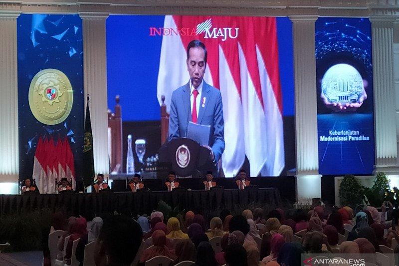 Reformasi sistem peradilan di Mahkamah Agung, Jokowi acungi jempol