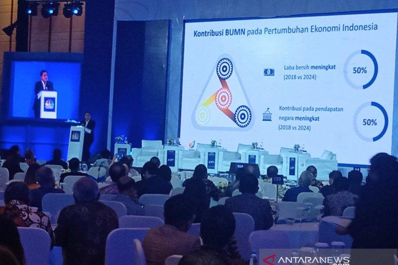 Erick minta BUMN dan swasta bersaing bangun Indonesia