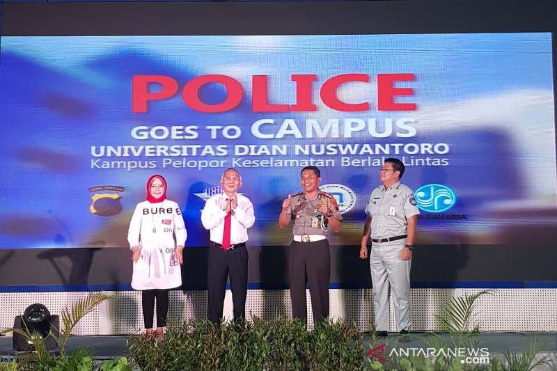 Polda Jateng jaring mahasiswa Udinus jadi pelopor keselamatan lalu lintas