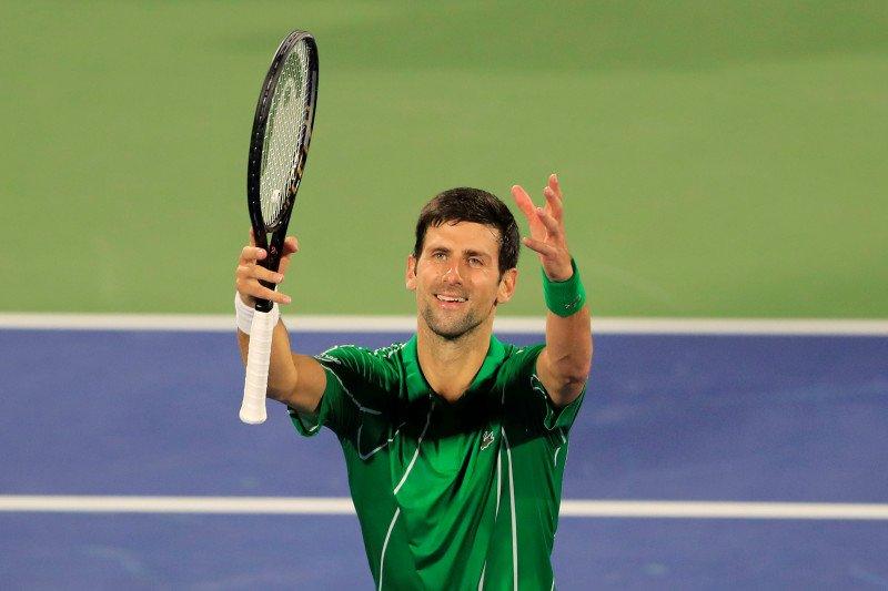 Djokovic ke babak 8 besar Dubai karena terlalu perkasa bagi Kohlschreiber