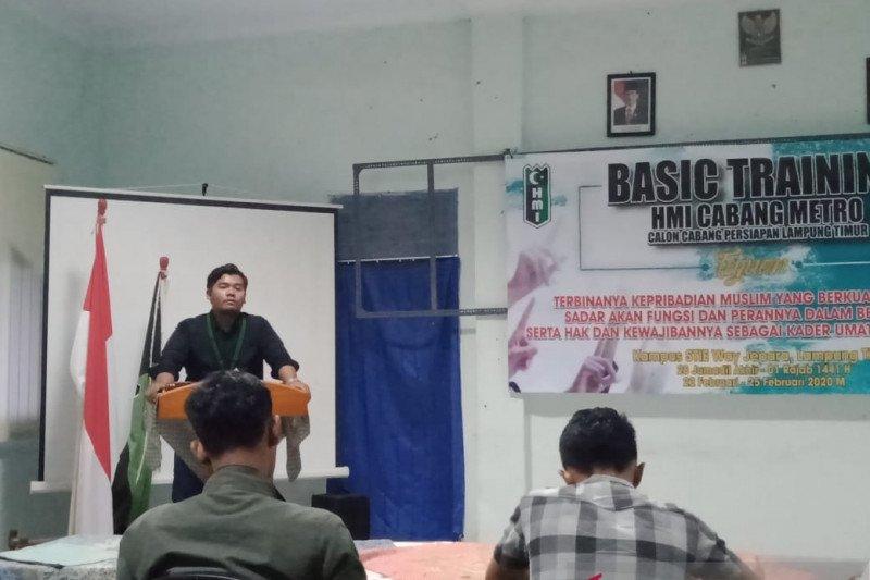 Latihan Kader Dasar HMI di STIE Lampung Timur ditutup