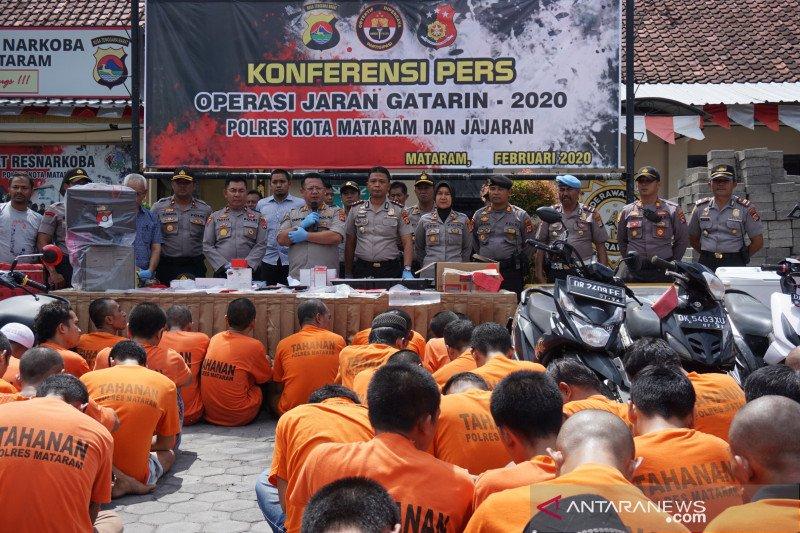 Operasi Jaran 2020 di Mataram berhasil mengungkap 104 kasus pencurian