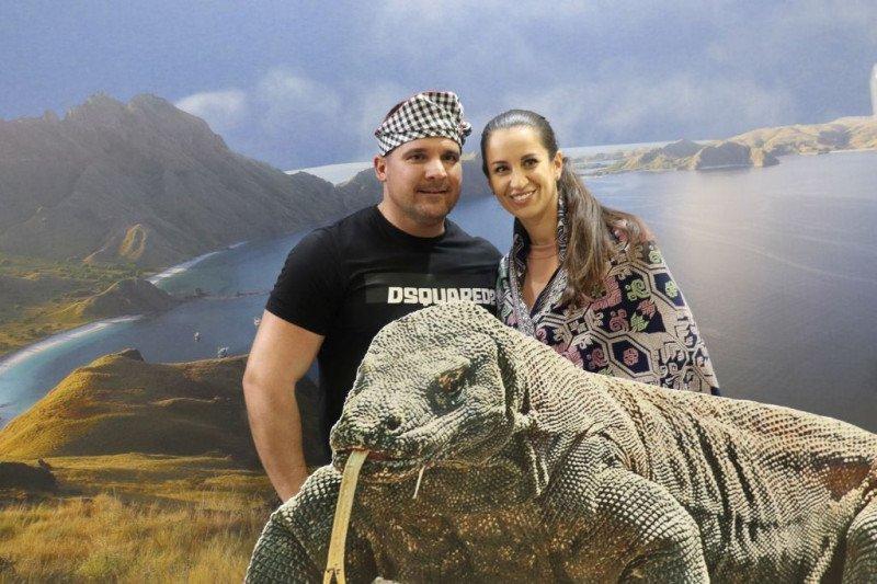 Komodo tarik perhatian pengunjung pameran pariwisata