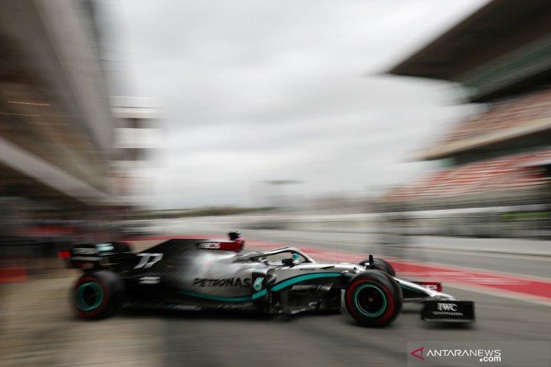 Bottas bawa Mercedes tercepat di sepanjang tes pramusim F1 di Barcelona