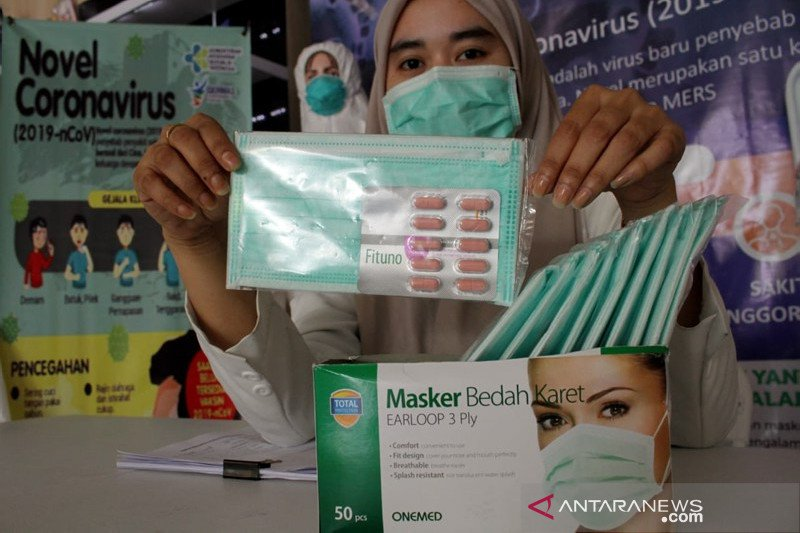 Penjualan masker di Makassar terbatas