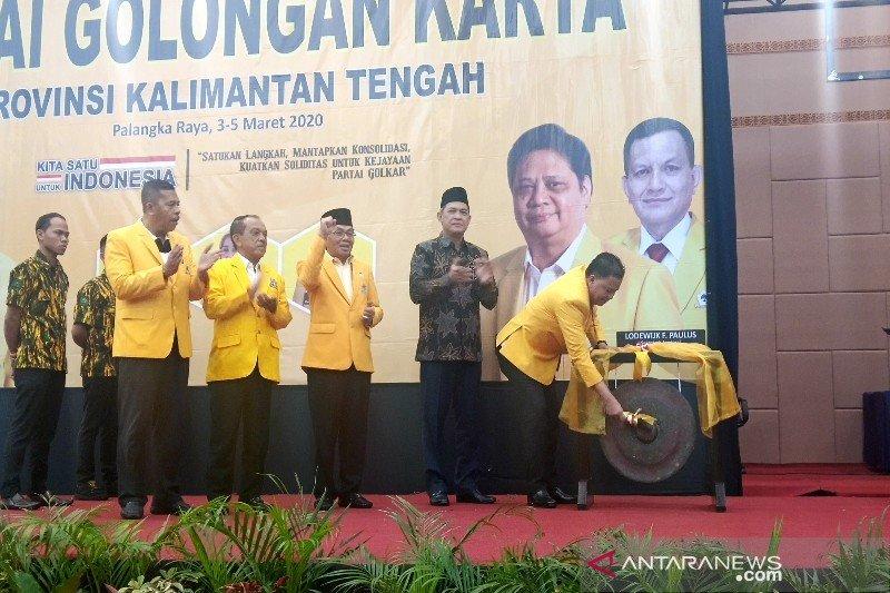 Musda Golkar Kalteng tercepat di seluruh Indonesia, ini hasilnya
