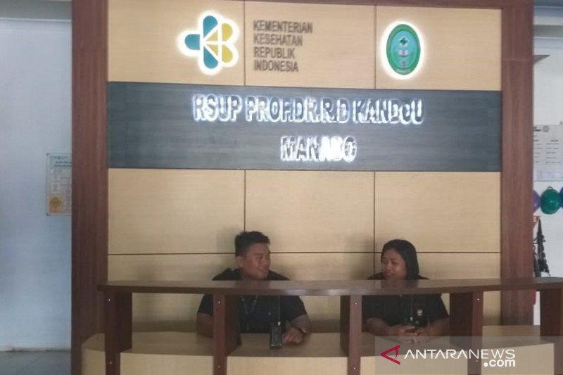 Pasien yang diisolasi di RSUP Kandou Manado positif Corona