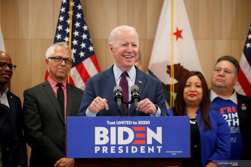 Pertarungan capres AS dari Demokrat, Joe Biden unggul dari Sanders