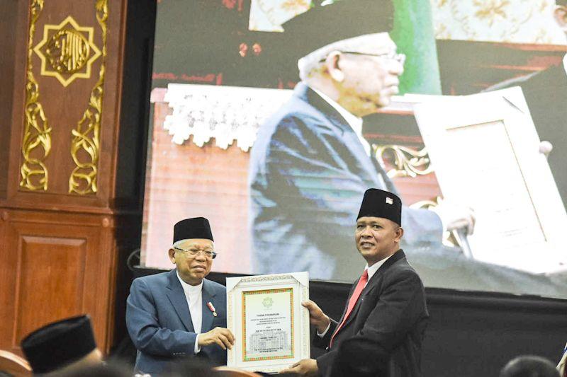 Wapres merendah saat terima gelar Bapak Ekonomi Syariah Indonesia dari UIN Suska Riau