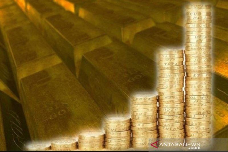 Harga emas naik 16 dolar pada Selasa pagi