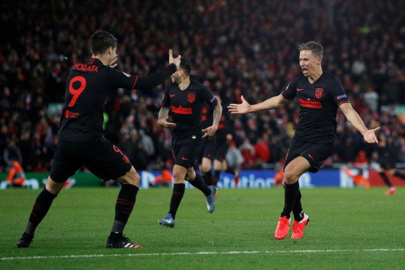 Atletico tundukan Anfield untuk singkirkan Liverpool