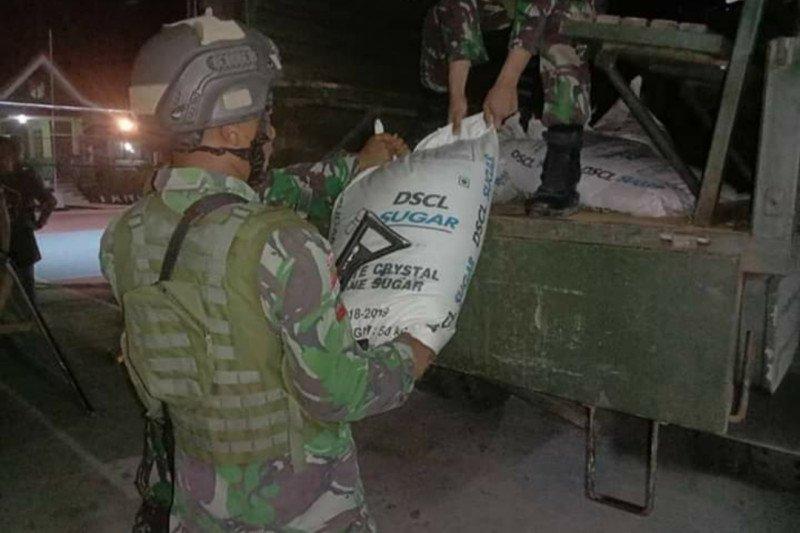 Satgas Pamtas Indonesia dan Malaysia amankan 1.350 kilogram gula ilegal