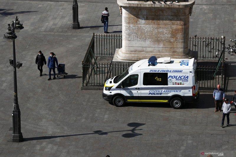 Spanyol melaporkan 838 kematian akibat corona dalam sehari