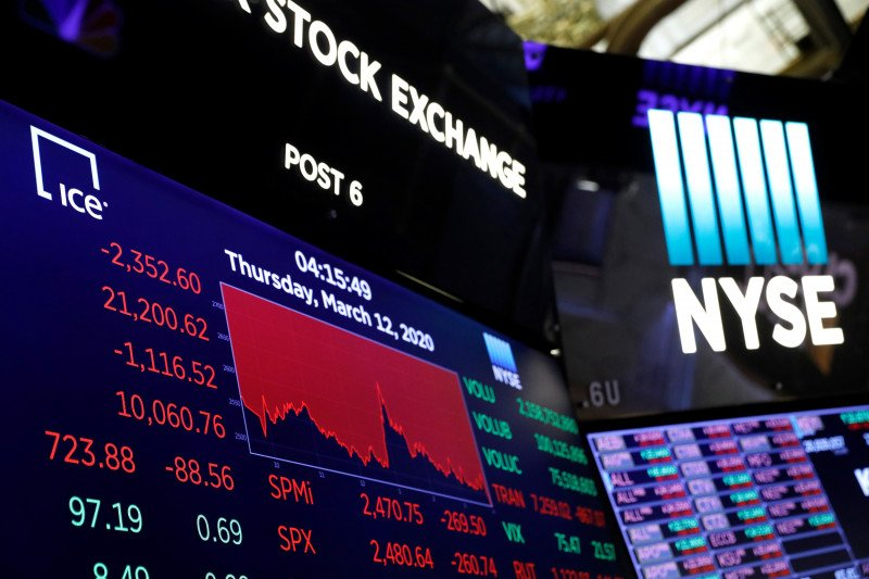 Bursa Saham Eropa ambruk karena khawatirkan penyebaran pesat Covid-19