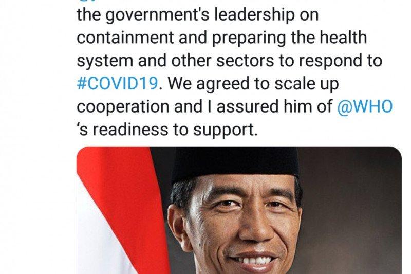 Presiden telepon Dirjen WHO terkait COVID-19