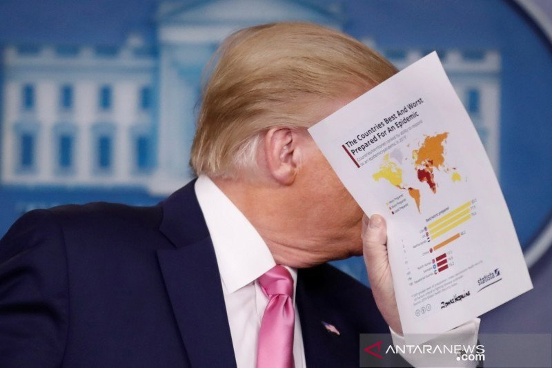 Presiden AS Donald Trump dinyatakan negatif corona