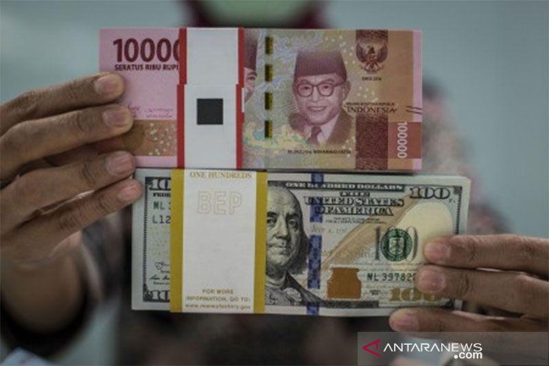 Kurs rupiah ditutup menguat di tengah pelemahan mata uang kawasan