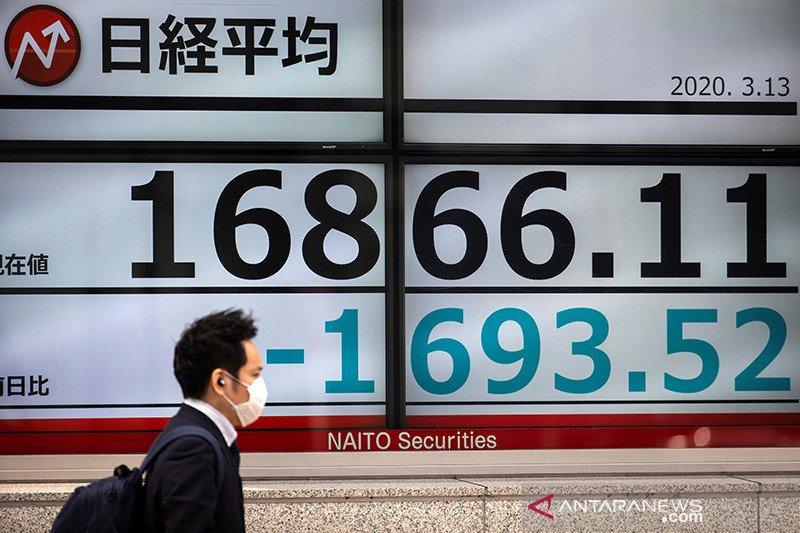 Saham Tokyo dibuka turun tajam