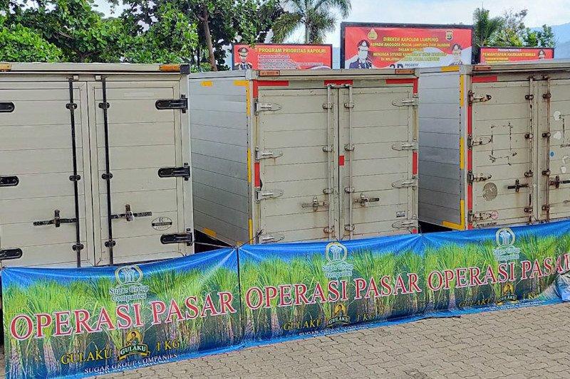 Polda Lampung tegaskan tidak ada penimbunan gula