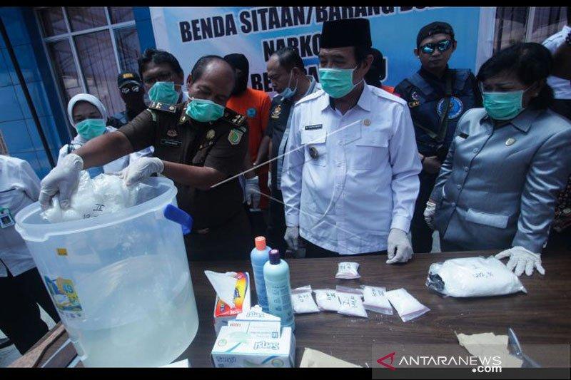 BNNP Kalteng musnahkan sabu-sabu seberat 2 kilogram lebih