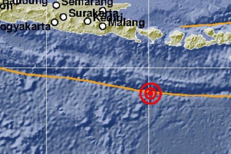 37 gempa susulan di Selatan Bali