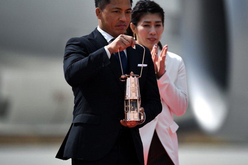 Obor Olimpiade dari Yunani tiba di Jepang