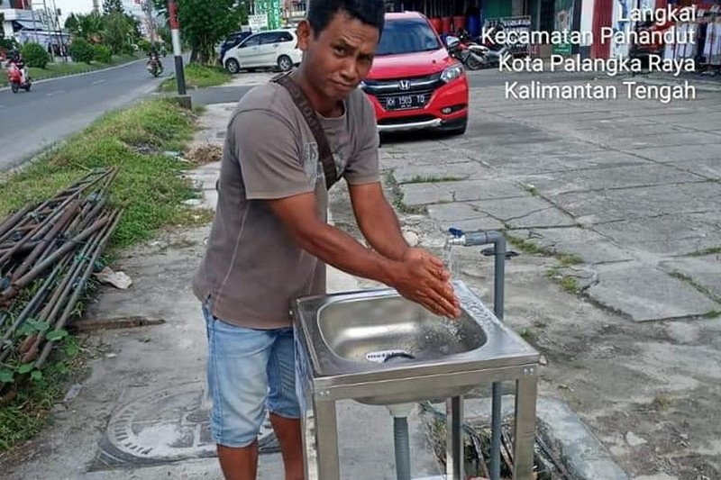 Cegah penyebaran Covid-19, Pemkot sediakan tempat cuci tangan di tempat umum