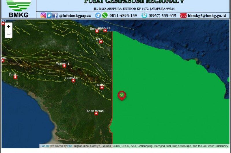 Gempa magnitudo 5,2 guncang Boven Digoel Papua