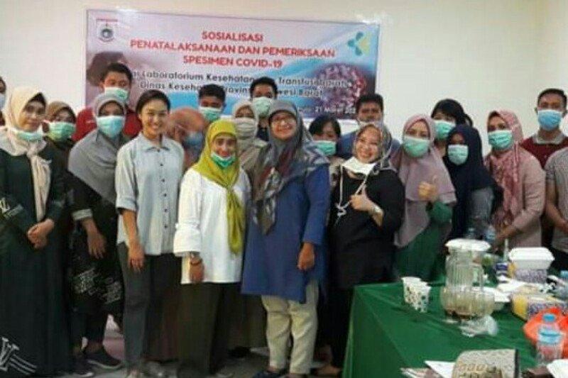 Dinas Kesehatan Sulbar ikuti sosialisasi pemeriksaan spesimen COVID-19