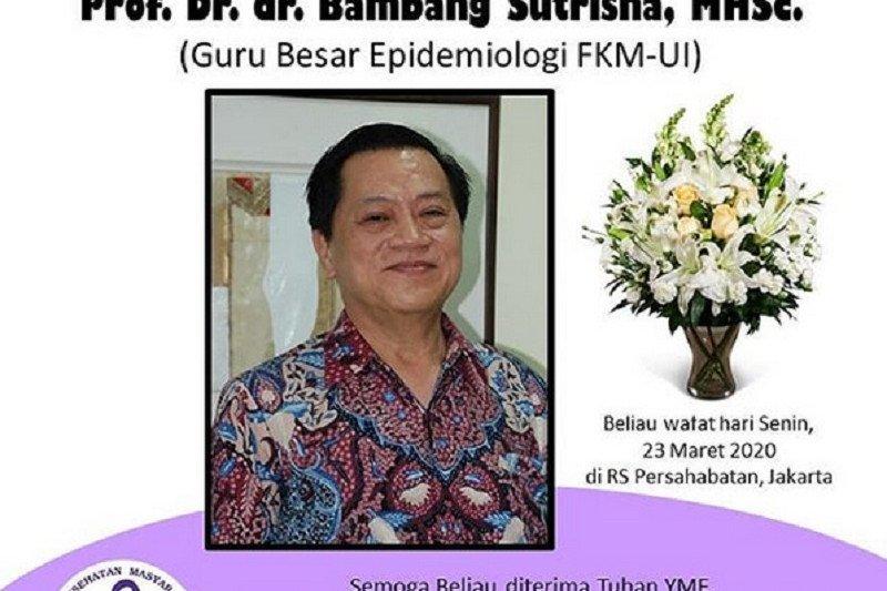 Prof Dr dr Bambang Sutrisna MHSc Guru Besar Epidemiologi UI meninggal dunia