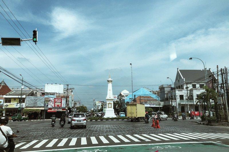 Kepadatan lalu lintas di Yogyakarta mengalami penurunan