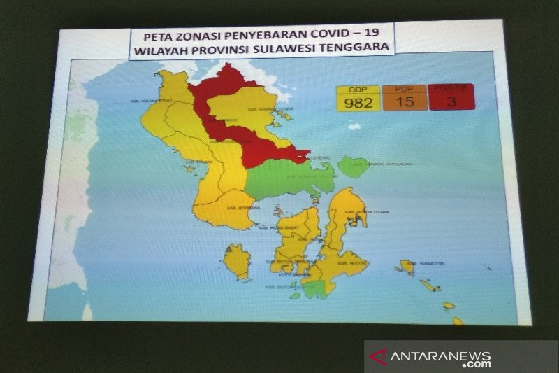 Ini data sebaran ODP kasus COVID-19 di Sultra, Bombana tercatat 219 orang