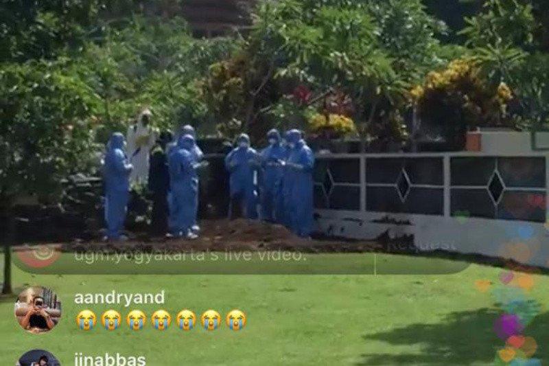 Jenazah Guru Besar UGM positif COVID-19 dimakamkan
