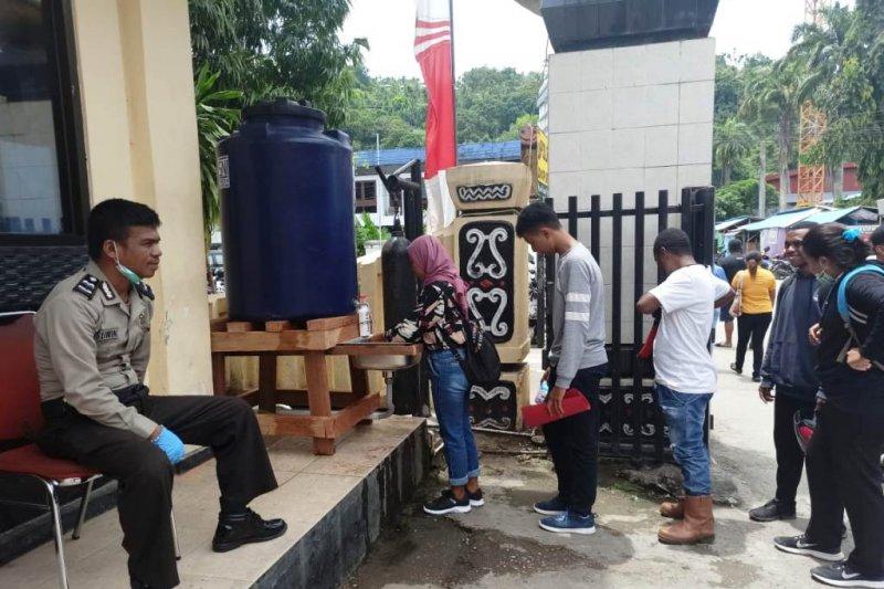 Polresta Jayapura Kota siapkan fasilitas cuci tangan untuk pengunjung