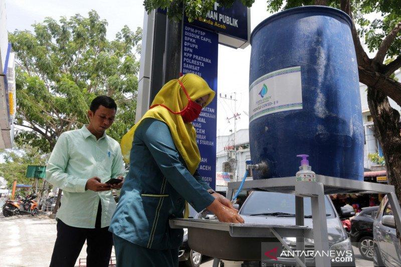 Pekanbaru pasang tempat cuci tangan di pasar tradisional cegah COVID-19