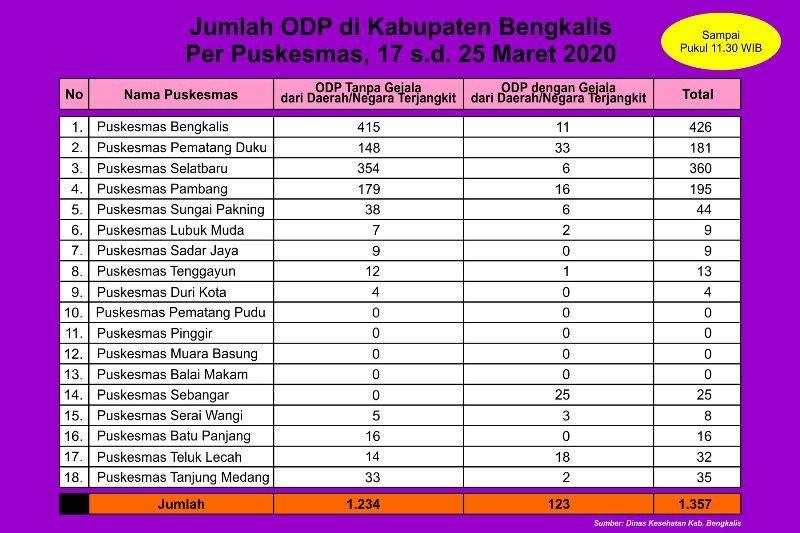 Jumlah ODP corona di Bengkalis bertambah 1.357 orang. Kok bisa?