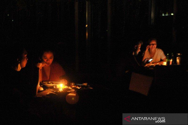 Bali gelap gulita malam Hari Raya Nyepi