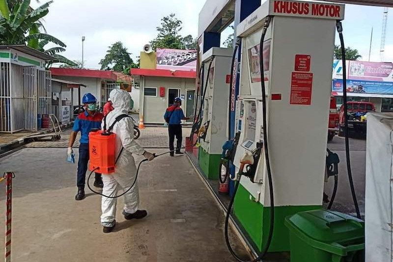 Pertamina Sumbagsel siapkan 1.500 liter disinfektan semprot SPBU