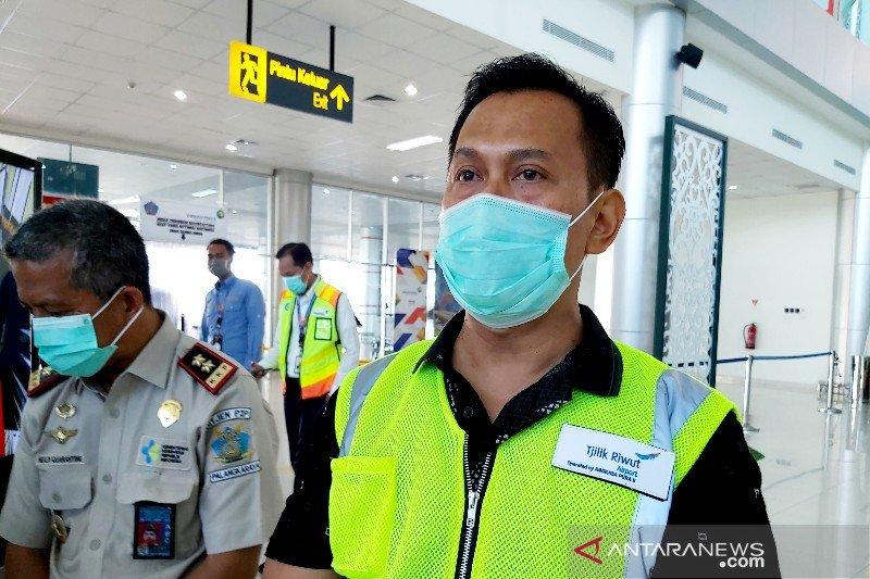 Pergerakan pesawat dan penumpang Bandara Tjilik Riwut turun hingga 50 persen