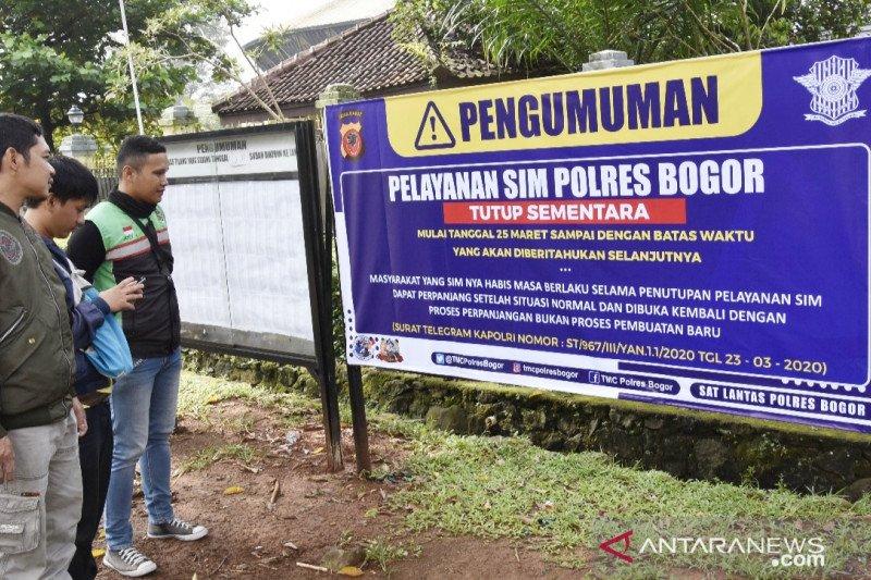 Cegah COVID-19, Polres Bogor tutup layanan SIM, BPKB, dan SKCK